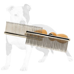 Durable metal brush for handsome dog look