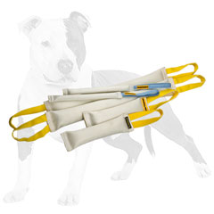 Reliable bite dog set of tugs made of fire hose