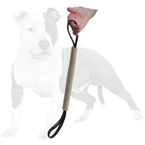 Durable bite dog tug for training with handles