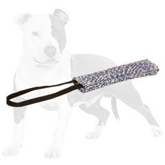 Easy to grab French Linen puppy tug for bite training