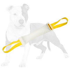 Fire Hose dog tug with easy to bite surface
