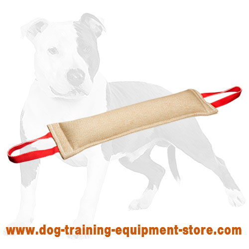 2 handles on Bite tug for dog training