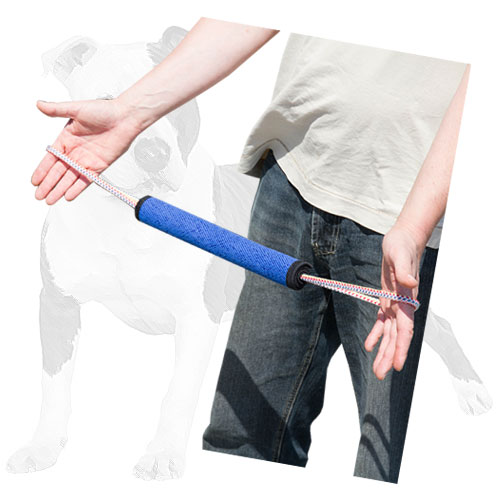 Reliable bite roll for puppy training with handle