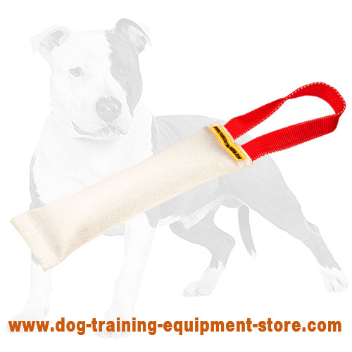 Puppy bite tug fire hose with 1 handle